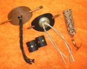 Ponytail holders and Barrettes Leather Bargain Lot of 5 SALE