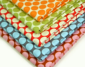 Amy Butler Fat Quarter Bundle -  Full Moon Polka Dot - Lotus - 5 FQs