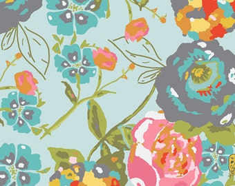 Lilly Belle - Garden Rocket in Turquoise (LB-1100) - Bari J for Art Gallery Fabrics - By the Yard