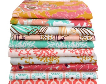 Fat Quarter Bundle - Summerlove by Patricia Bravo - Sunkissed Palette - Art Gallery Fabrics - 9 pcs