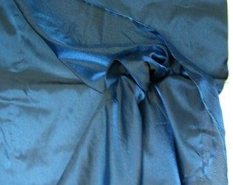 Blue/Black Iridescent Crepe Organza   1 Yard  (SM284)