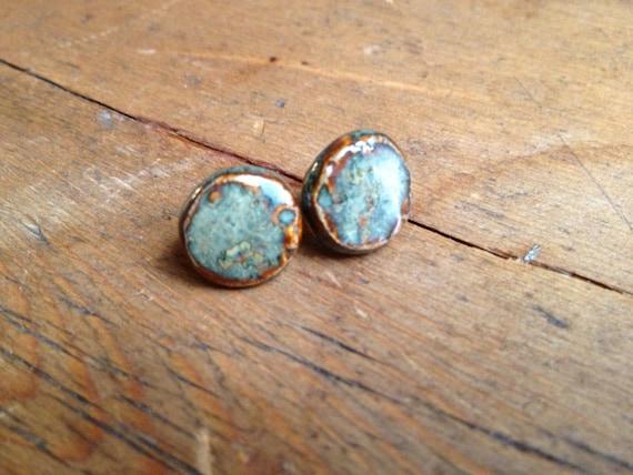 Rustic Low Tide Pottery Stud Earrings