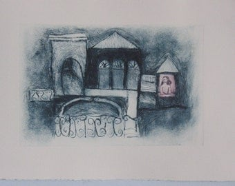 Drypoint Print- Imagination Place