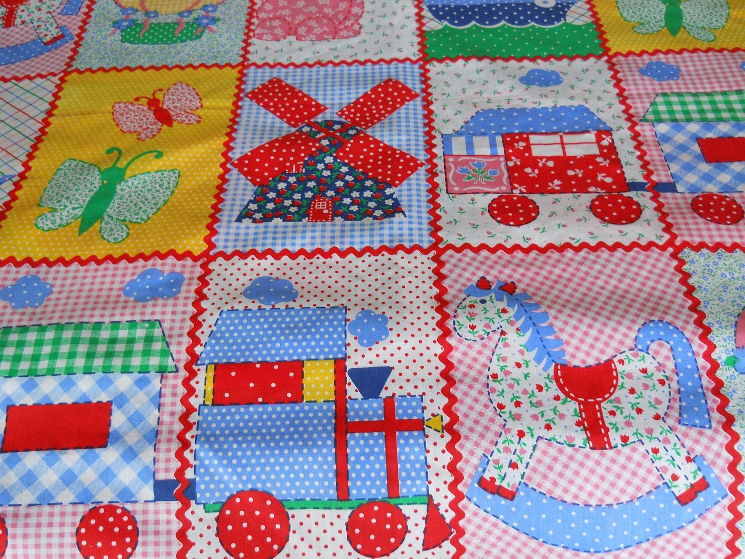 fabric toys for kids quilt panel by alisunflowers on etsy