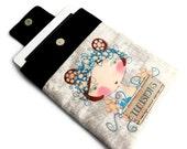 iPad Case iPad Sleeve Padded iPad Cover, Unique Design fabric printing - Flower Girl