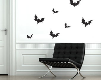 Spooky Bats Halloween Wall Decal (Halloween Wall Decal)