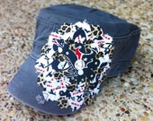 Houston Texans Frayed Flower Hat