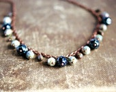 beaded necklace picasso beads on copper