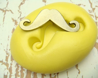 Mustache - Flexible Silicone Mold - Push Mold, Polymer Clay Mold, Resin Mold, Craft Mold, PMC Mold