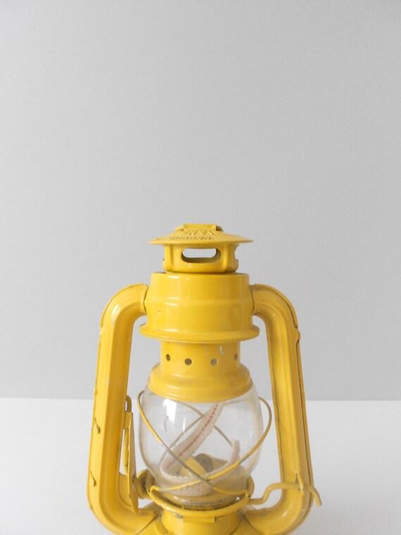 Bright Yellow Industrial Metal Paraffin Oil Lantern
