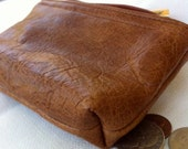 Men's or women's small leather pouch