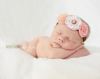 The triple sprinkled- Charlea NEW COLORS- stretch headband, baby headbands, newborn headbands, infant, toddler, adult