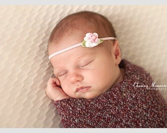 SALE The single sprinkled- Rose- stretch headband