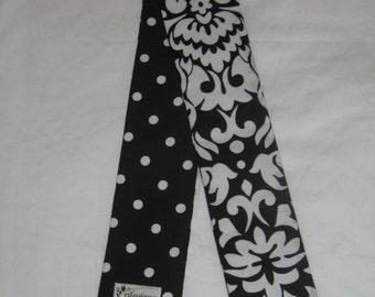 Padded Boutique SLR Camera Strap Cover Black damask dot Teacher gift