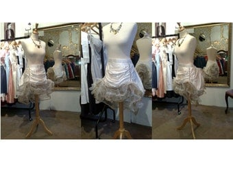 Haute couture Burlesque bustle silk skirt