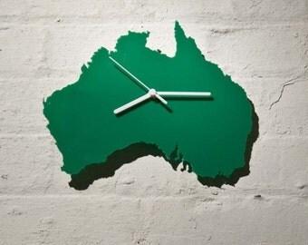 Australia clock (Green)