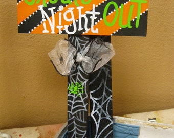 Jez4U Custom Halloween Mini Sign Tell me your ideas at checkout