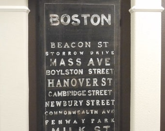 Boston CANVAS Special Order for your Hometown 2' X 4'