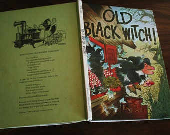 Vintage Copy of Old Black Witch by Wende and Harry Devlin - Parents' Magazine Press - Stated 1966 Edition