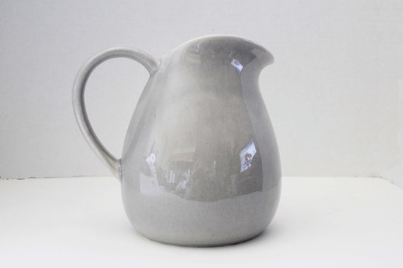 Russel Wright American Modern Granite Gray Water Pitcher by Steubenville