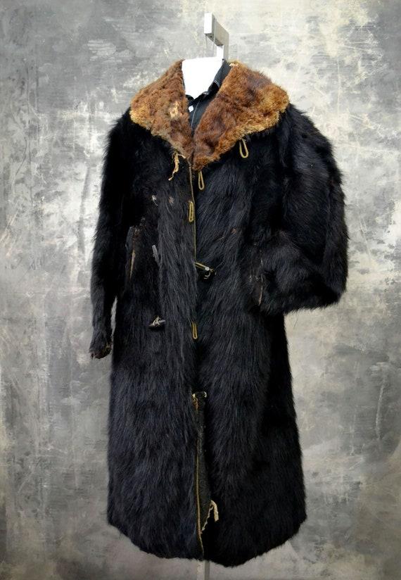 Victorian Coachman S Bear Skin Over Coat