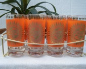 High Ball Glassware Set with Sun Design