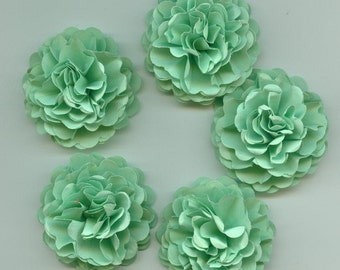 Sea Foam Green Carnation Mini Paper Flowers for Weddings, Bouquets, Events and Crafts
