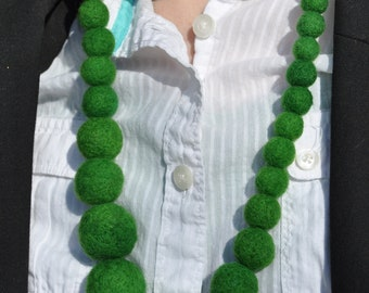 Felt Balls Necklace