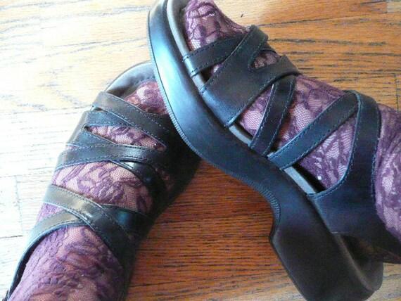 Dansko Black Strap Shoes size 39