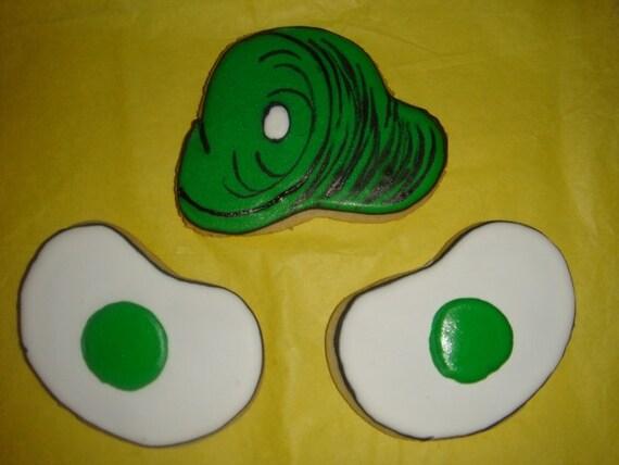 1 DZ Green Eggs and Ham Sugar Cookies
