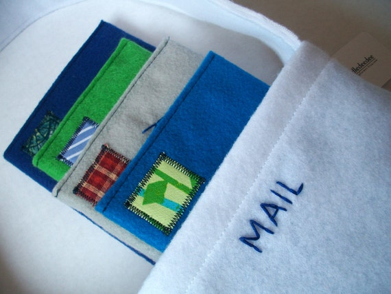 Custom Order RESERVED - Personalize-It Felt Mail Play Set