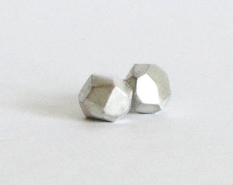 Faceted Silver Studs