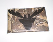 FATHERS DAY Camo Antler Duct Tape Wallet PERSONALIZED