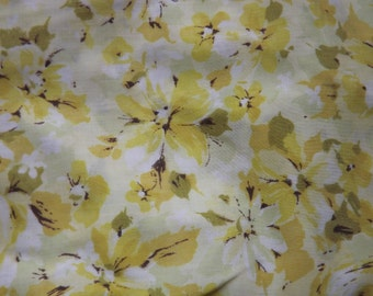 Flowers of Gold Vintage Twin Fitted Sheet