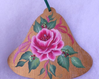 Roses and Berries Christmas Ornament - Floral Xmas ornament