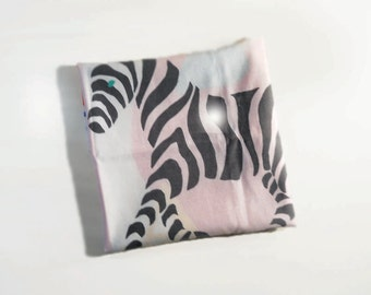 Vintage Childen's Pillowcase A to Z  Zebra and Apple