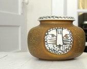 RESERVED for Ta  Mid Century Lisa Larson small Cat Face Vase for Gustavsberg Sweden, Thalia series, 1960s