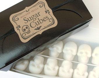 SUGAR SKULL CUBES Bulk Sugar Cubes 1 Box - 36 Sugar Cube Skulls