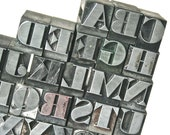Vintage Printers Type Alphabet Complete for Stamping Printing Altered Art