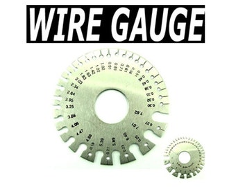 2 Sided Stainless Steel Wire Guage  -  WG01