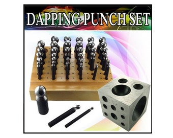 36pc Mazbot Dapping punches with Doming Block - DPS04