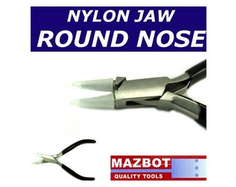 5in Mazbot Nylon Jaw ROUND NOSE Pliers - NJP05