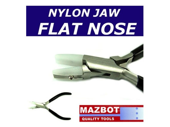 5in Mazbot Nylon Jaw FLATE NOSE Pliers  -  NJP02