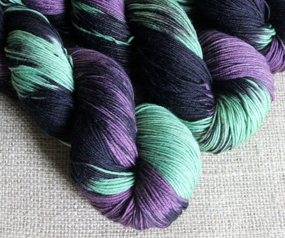 Maleficent - SW Merino & Nylon Sock Fingering Yarn - Hand Dyed - 462 yards