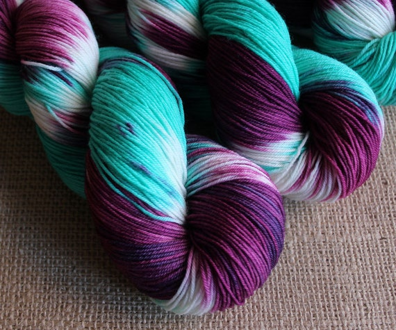 Polyjuice Potion - SW Merino & Nylon Sock Yarn - Hand Dyed - 462 yds
