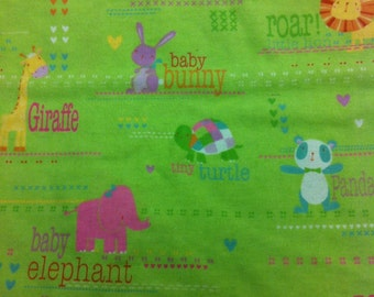 Zoo Babies - Flannel Fabric - BTY