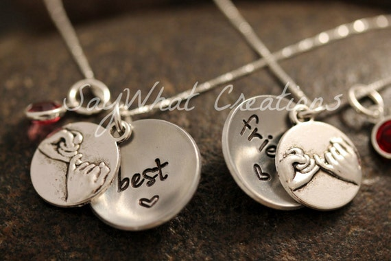Pinky Promise Best Friends Locket Necklaces SET OF TWO
