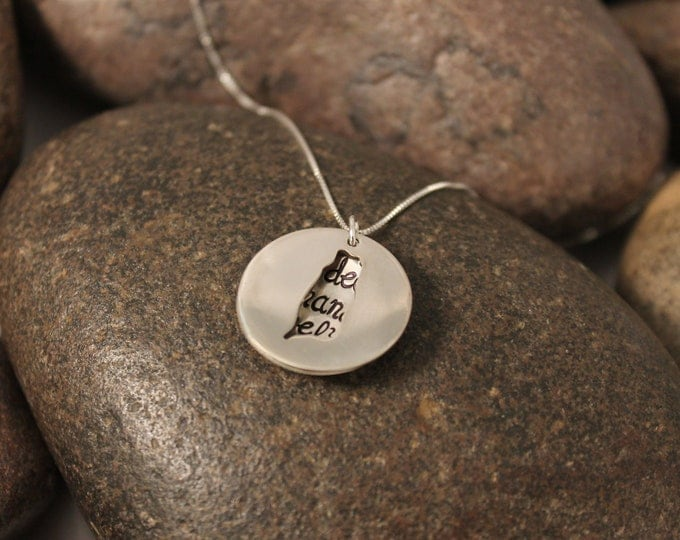 Custom Hand Stamped Sterling Silver TAIWAN Locket Necklace Perfect for Adopting Mothers
