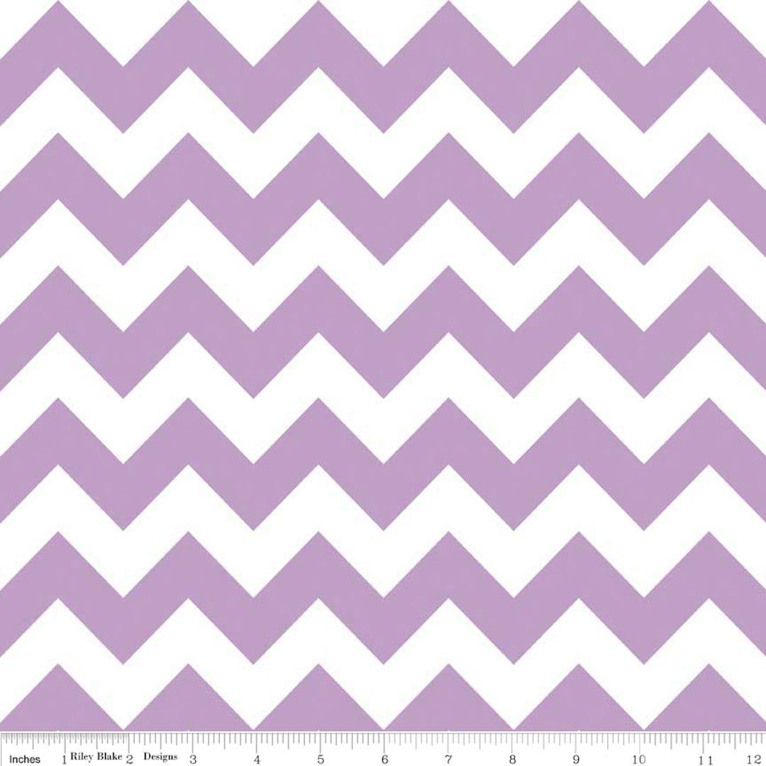 riley blake lavender purple chevron 1 yard