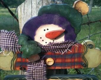 Adorable Mr. Snowman Decoration Hanger/Sign